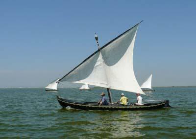 La navegación: barcas, calafates y vela latina