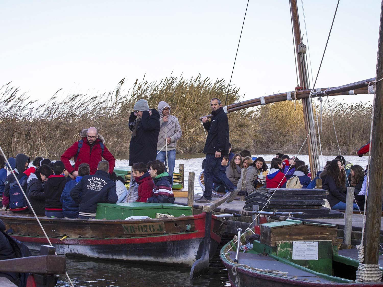 Trilladora Albufera activitat barca